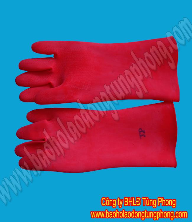 Găng tay axit đỏ 3 ly ngắn