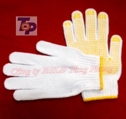 Găng tay sợi hạt vàng